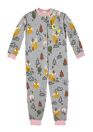 Pijama Macacão Infantil Menina - Brilha No Escuro - Cinza
