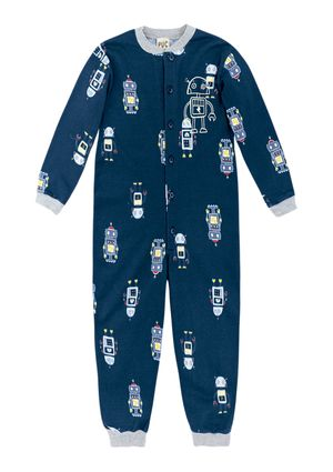 Pijama Macacão Infantil Menino - Azul