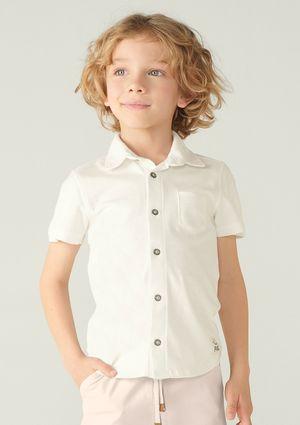 Camisa Básica Infantil Menino Manga Curta - Preto
