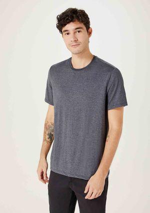 Camiseta Básica Masculina Super Cotton - Cinza