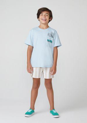 Conjunto Infantil Menino Com Sarja - Azul
