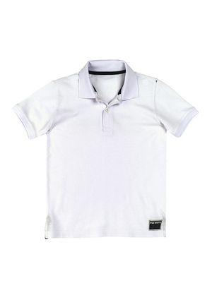 Camisa Polo Básica Infantil Menino Em Malha Piquet - Branco
