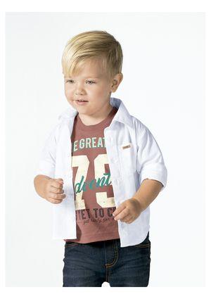 Camiseta Bebê Menino Em Algodão Com Estampa Frontal Puc - Preto