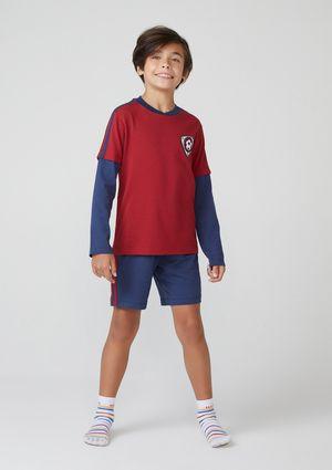 Pijama Infantil Menino Fantasia - Azul