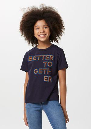 Camiseta Infantil Manga Curta Tal Pai Tal Filho - Azul