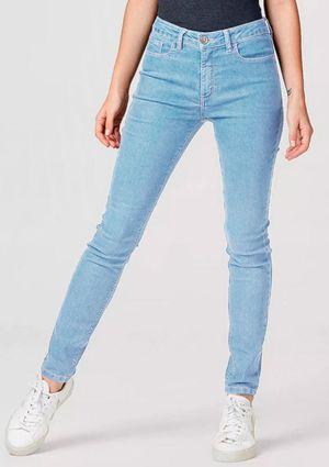 Calça Jeans Feminina Skinny Cintura Média - Azul